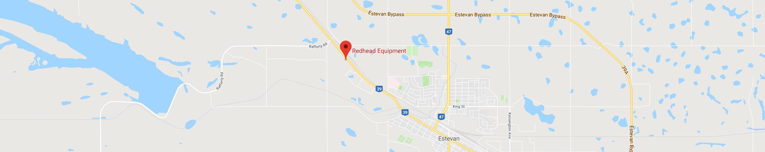 Map Location of Redhead Equipment in Estevan