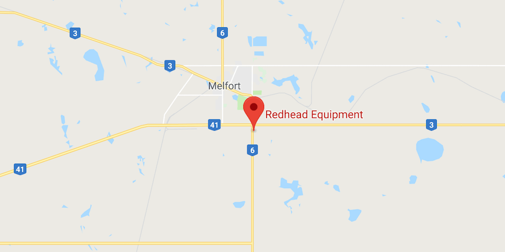 Map Location of Redhead Equipment in Melfort
