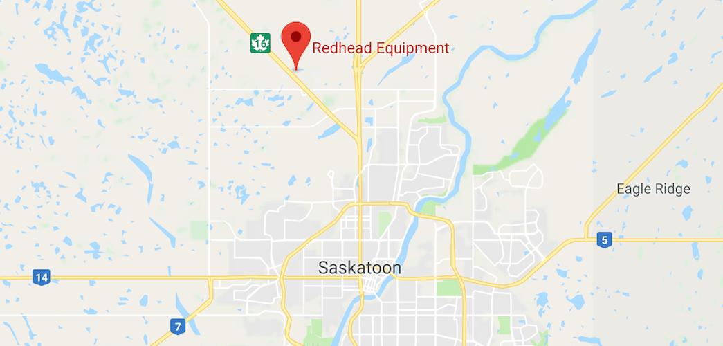 Map Location of Redhead Equipment in Saskatoon