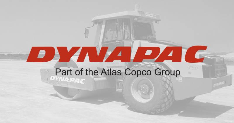 Dynapac logo with background